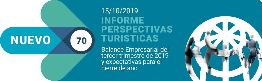 Informe Perspectivas Turísticas N70 - Tercer trimestre 2019